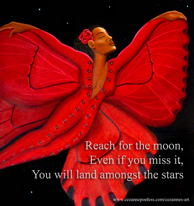 Black Butterfly Reach the Moon