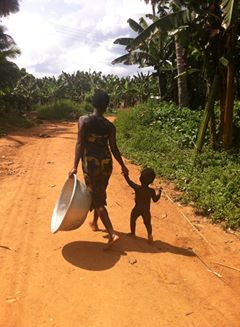 village mother and sun